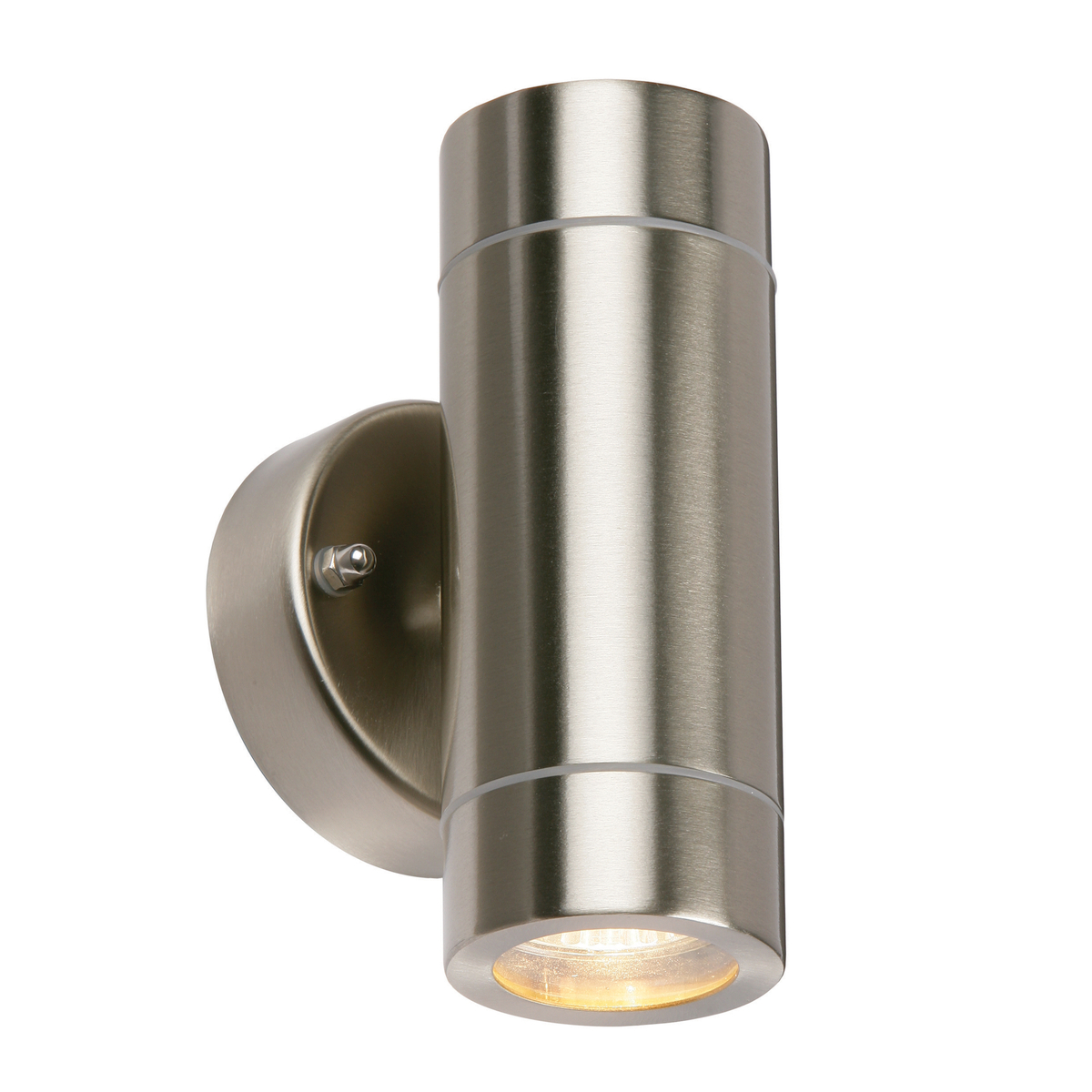 modern stainless steel up down gu10 led ip44 dimmable outdoor garden wall light ebay. Black Bedroom Furniture Sets. Home Design Ideas
