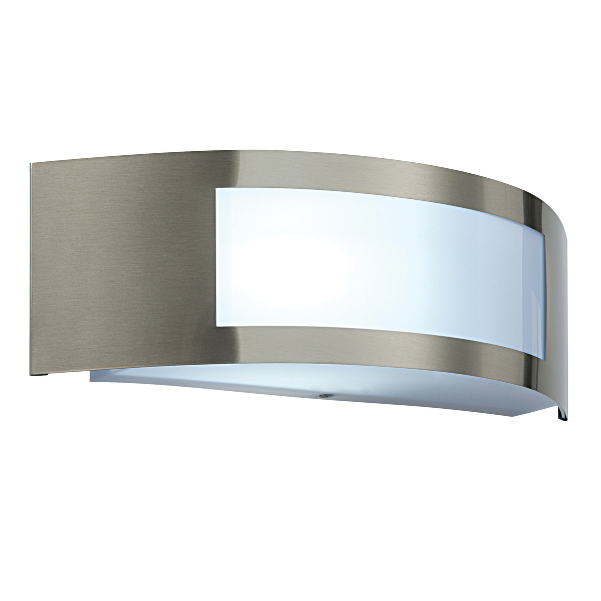 Modern Curved Stylish Outdoor Garden Wall Light E27 Fitting Stainless Steel IP44