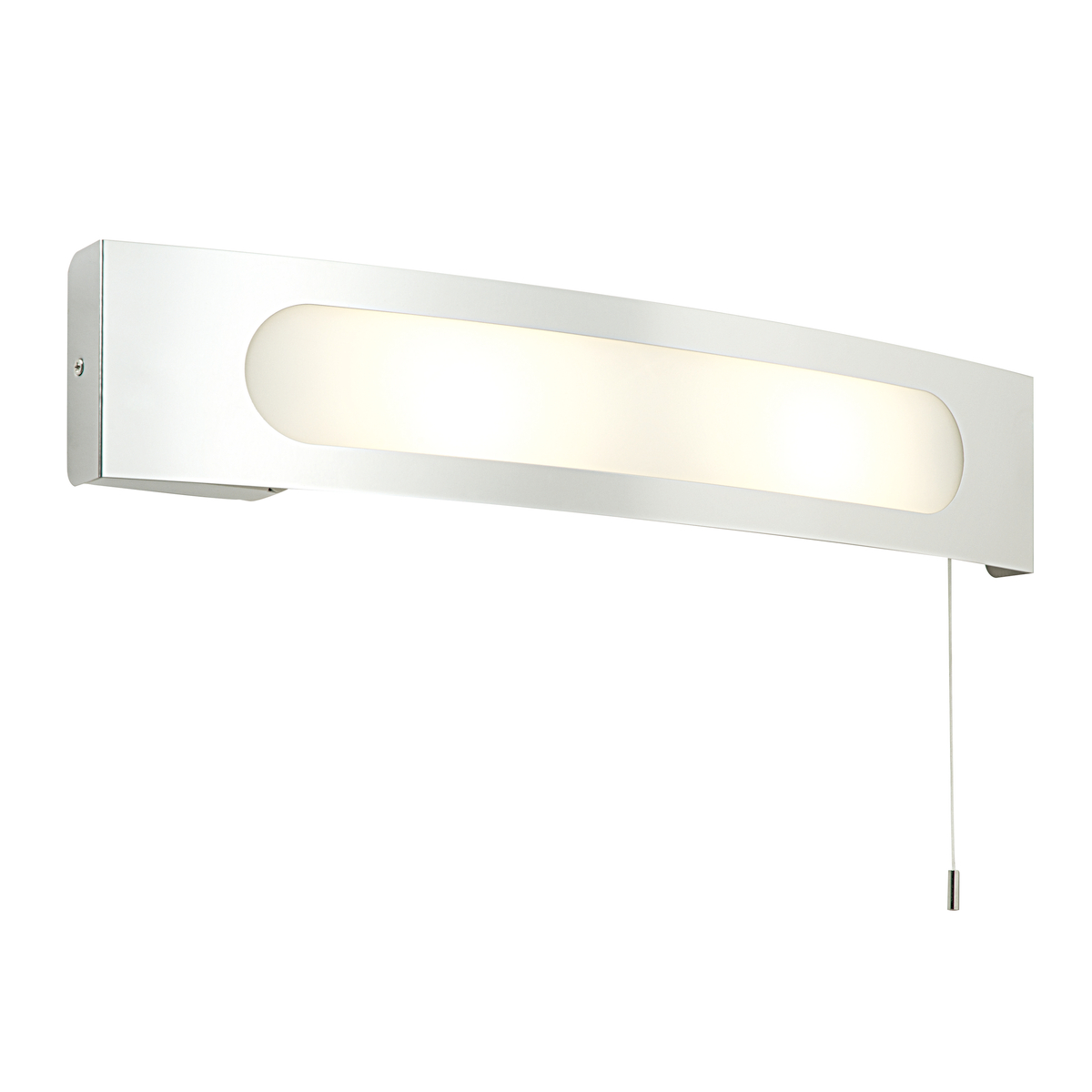 Modern Decorative E14 Curved IP44 Pull Cord Bathroom Wall Light W/ Shaver Socket